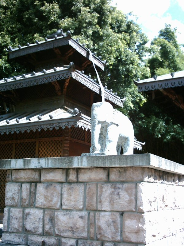South Bank Nepalese pagoda elephant statue