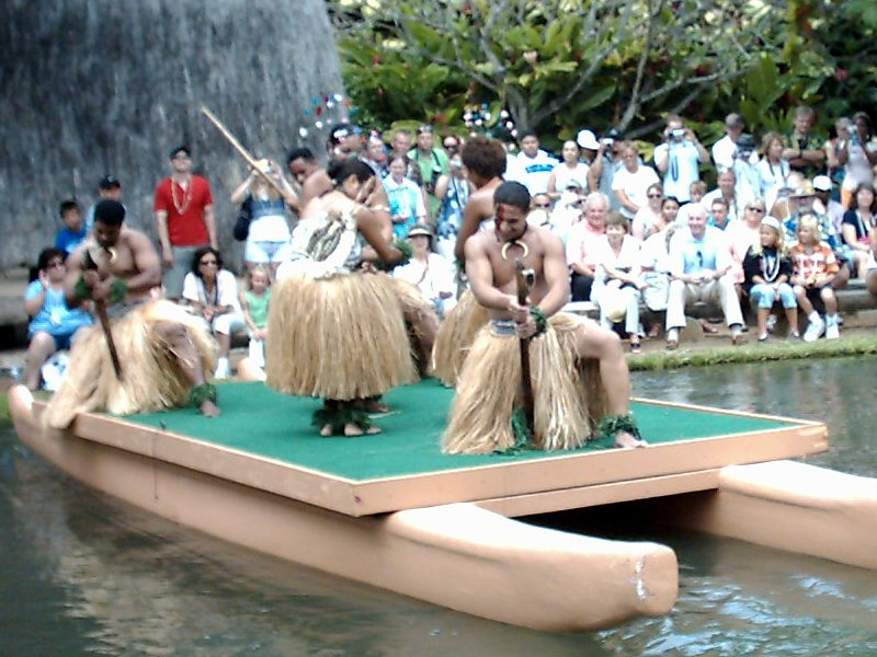 Oahu Polynesian Cultural Center Canoe Pageant Fiji 2