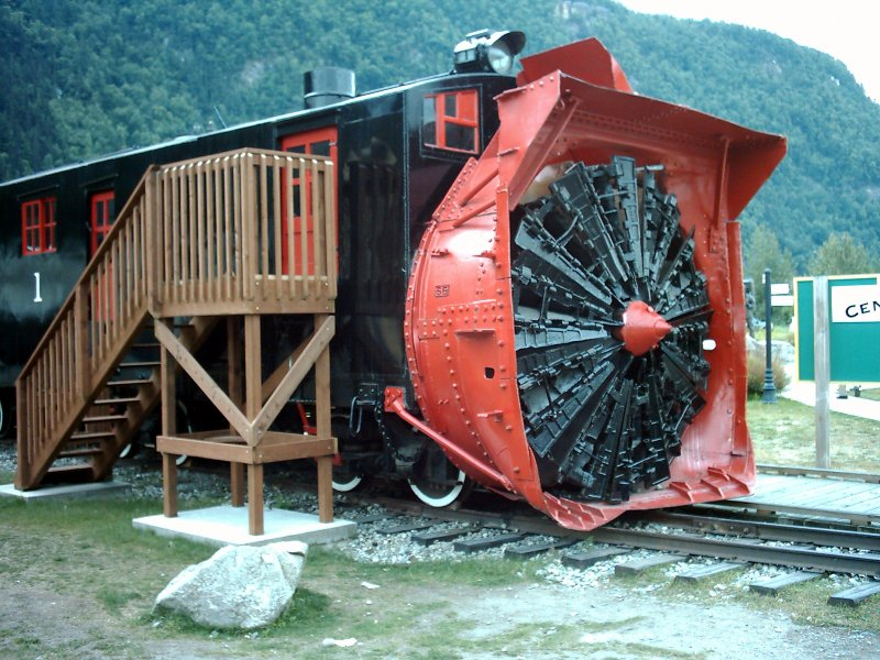 Skagway Steam Snowplough Engine
