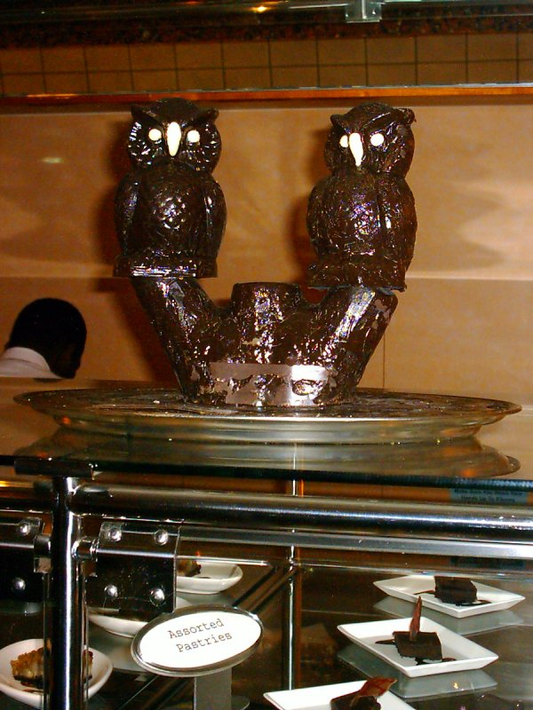 Alaska Norwegian Pearl Chocoholic Buffet Chocolate Owls