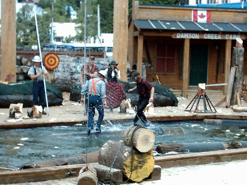 Ketchican Great Alaskan Lumberjack Show Log Rolling