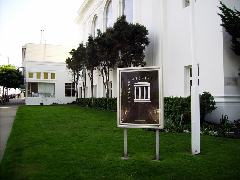 San Francisco Internet Archive signboard