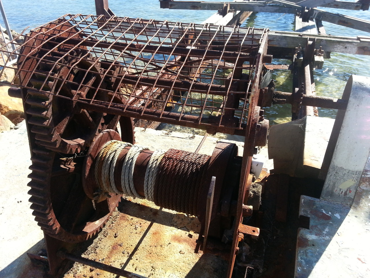 Merimbula rusty winch